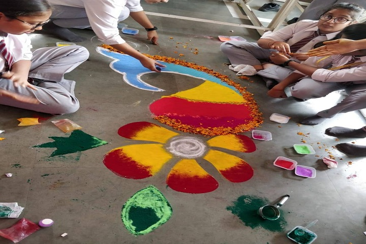 B G S International Public School-Rangoli