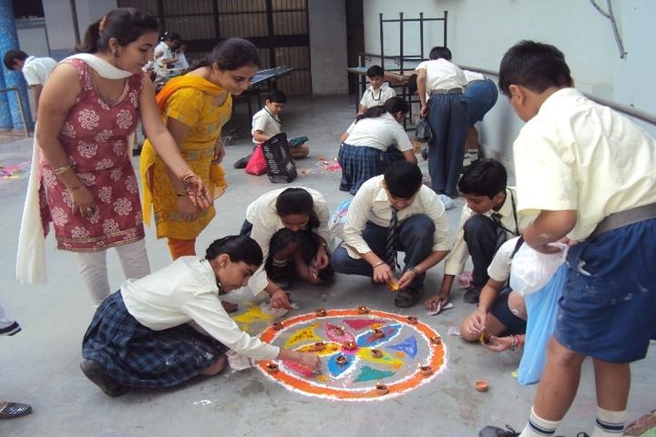 Bharti Public School-Rangoli Competition