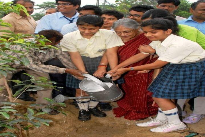 Bharti Public School-Tree Plantation