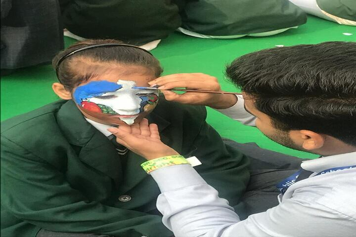 Bharti Public School-Face Painting Activity