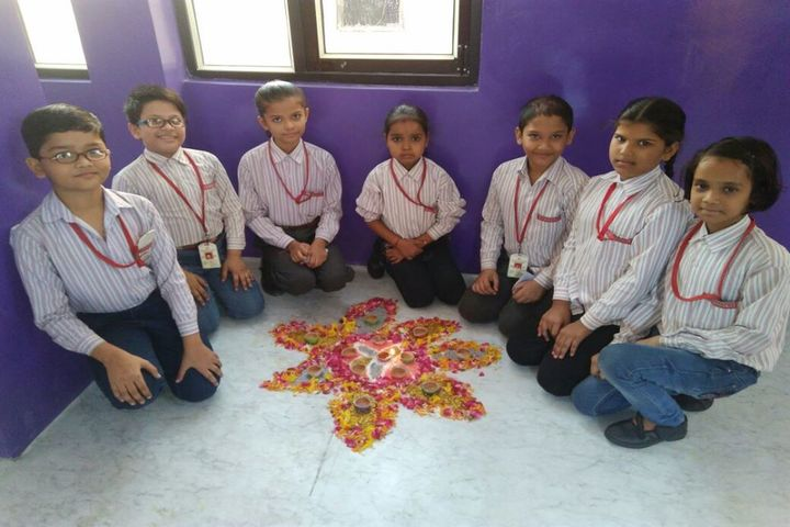 Blooming Dales Public School-Rangoli