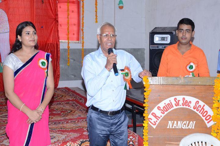 C R Saini Public School-Speech