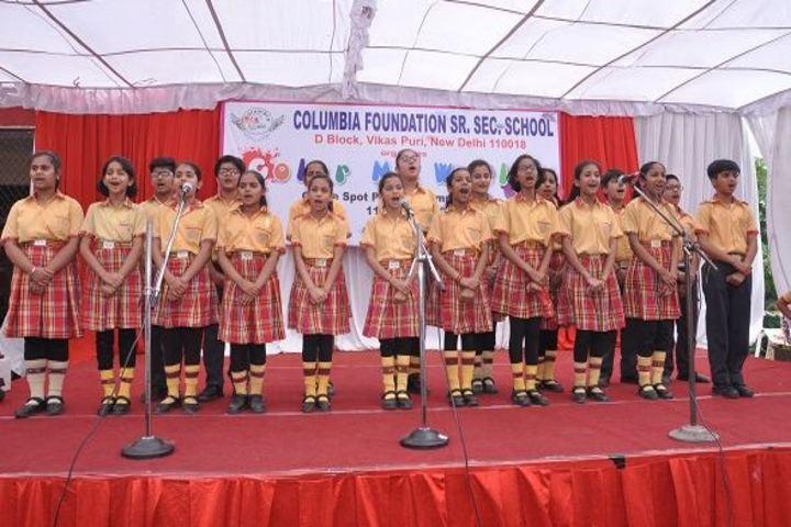 Columbia Foundation Senior Secondary School  Vikas Puri-Singing