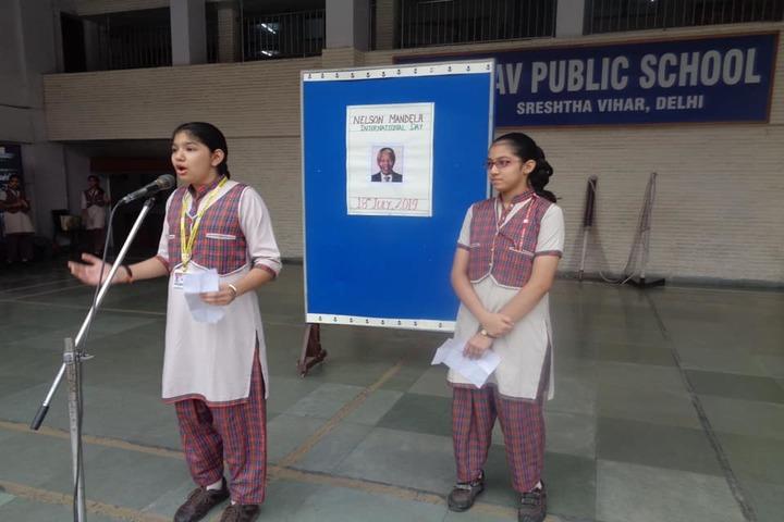 D A V Public School-Speech
