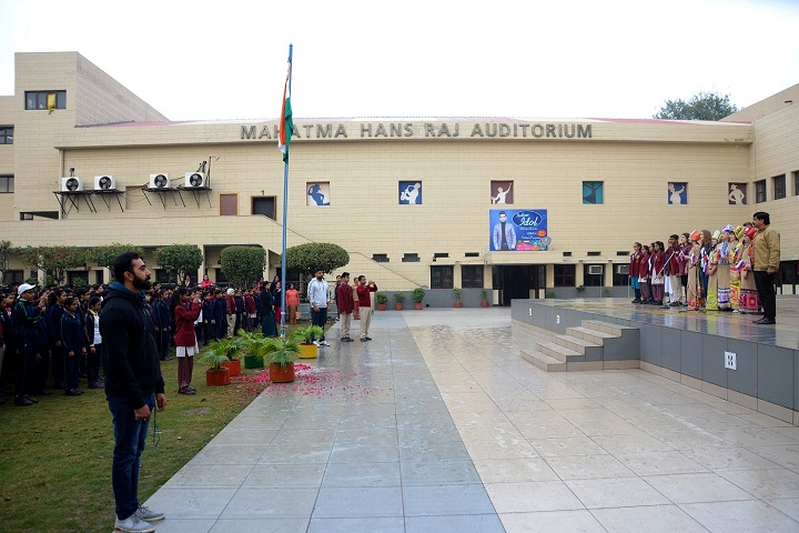 Darbari Lal DAV Model Senior Secondary School-Republic day