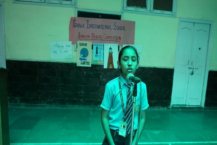 Ganga International School-Debate team