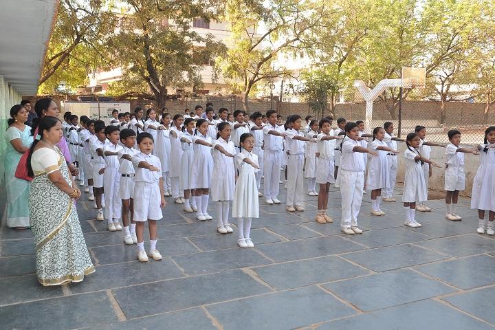Montessori English Medium Primary School-Morning Assembly