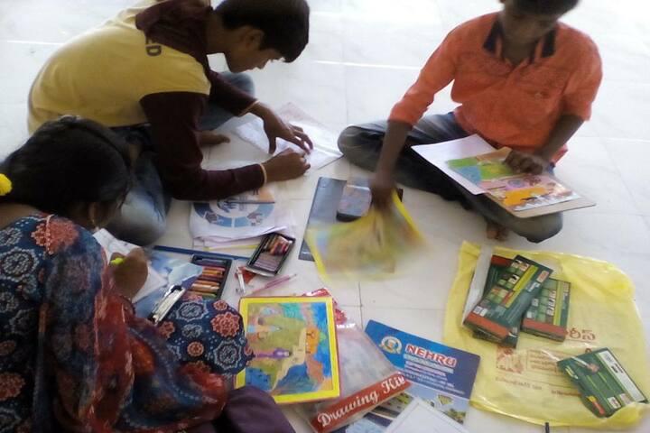 Nehru High School-Drawing Activity
