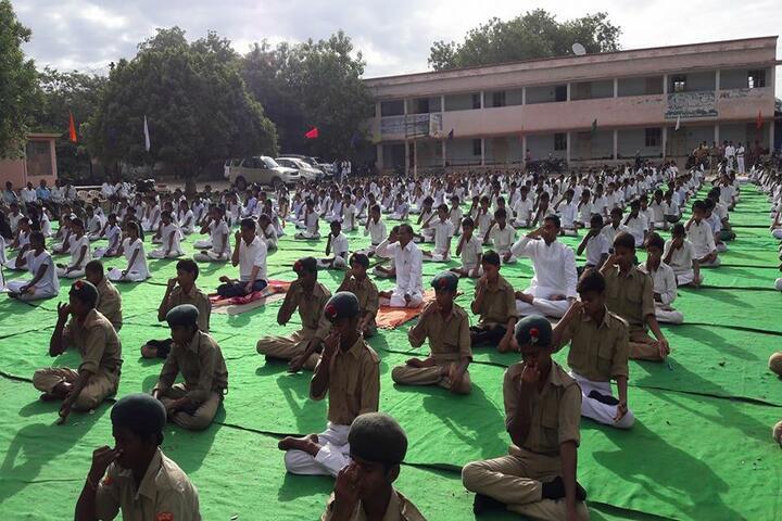 Nehru High School-Yoga Day
