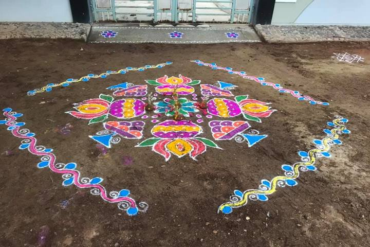 Sri Prakash Residential School- Rangoli