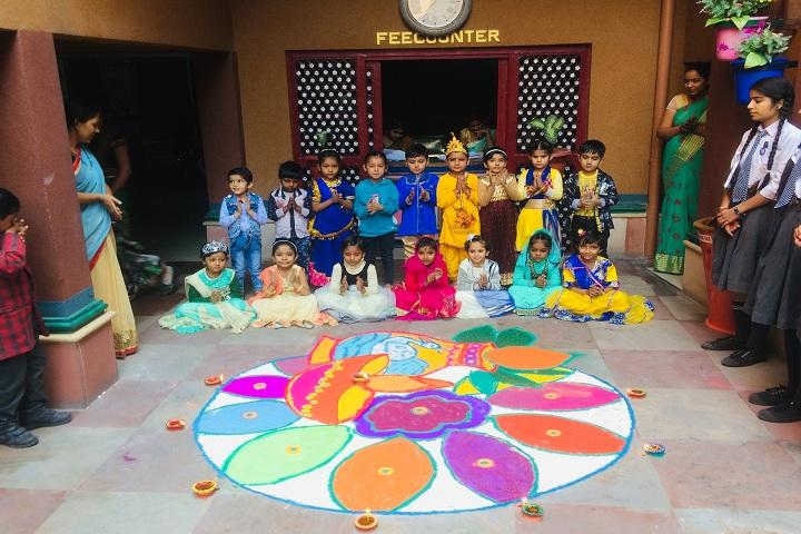 Holy Child Model School-Rangoli Competition