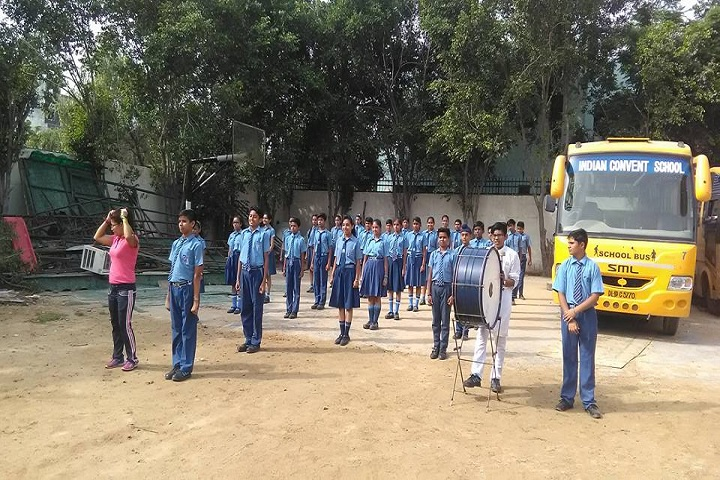 Indian Convent School- transport and parade