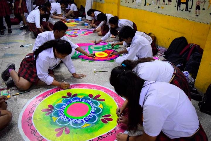 J D Tytler School-Rangoli