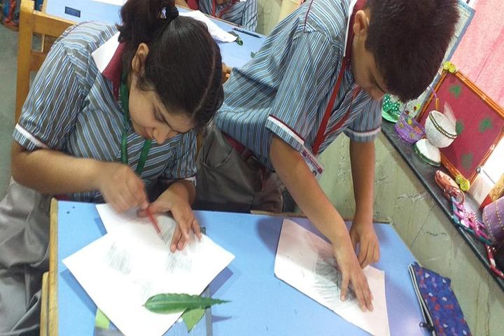 K R Mangalam World School-Drawing Activity