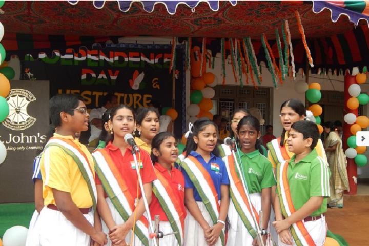 St John s English Medium High School-Independence Day Celebrations