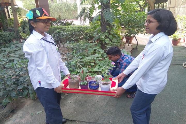 KIIT World School-Tree Plantation