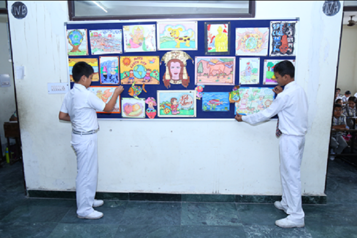 Krishna Model Secondary School-Art room