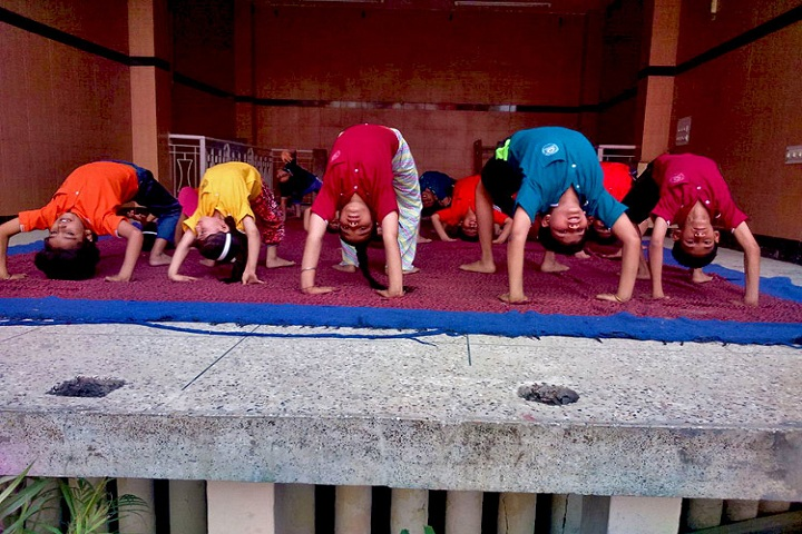 Little Flowers Public Senior Secondary School, Shahdara-Yoga Day