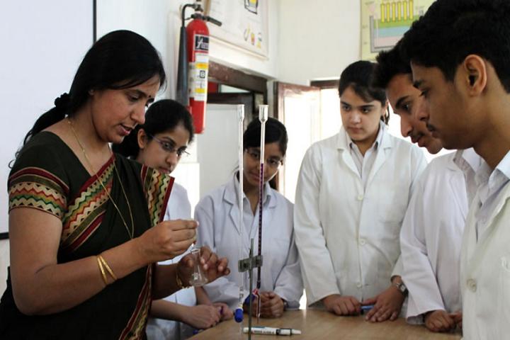 Manav Sthali School-Chemistry lab