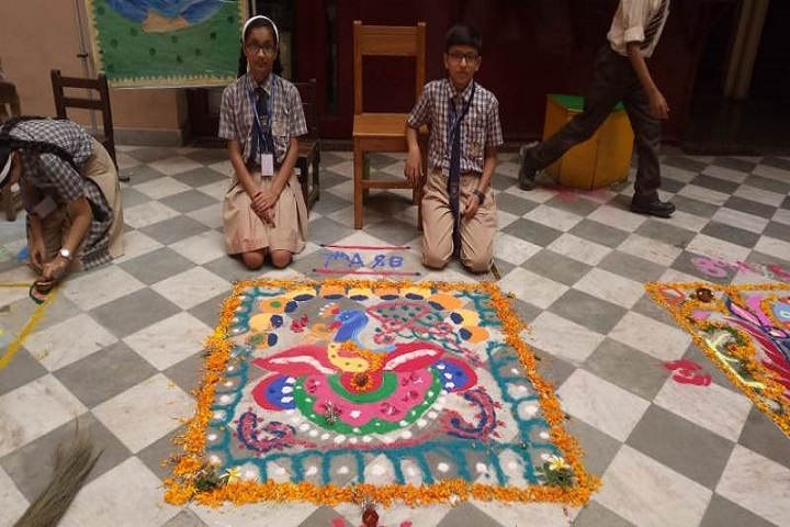 Plato Public School-Rangoli-Activity
