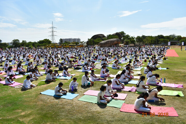Vignan Steel City Public School-Yoga Day