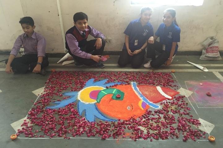 S D Public School-Rangoli event