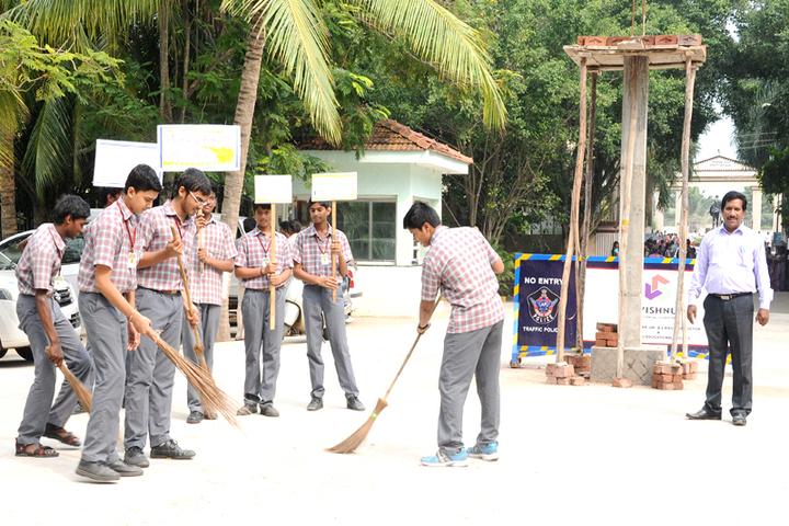 Vishnu School - Swachh Bharath