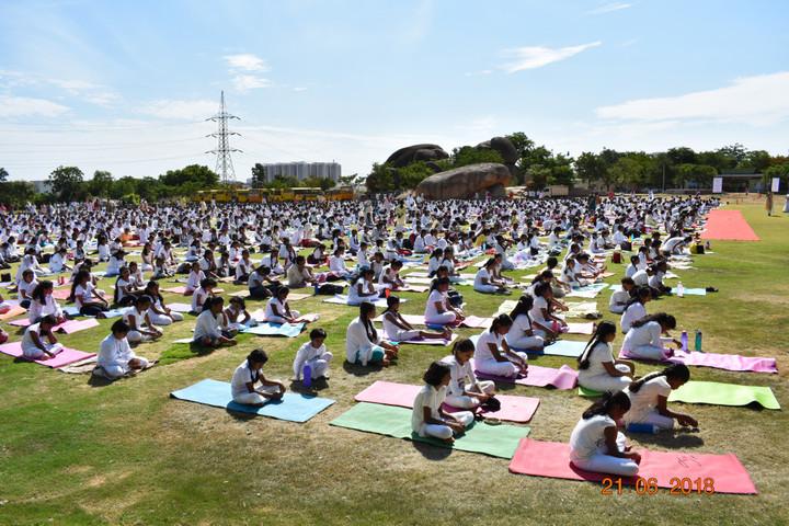 World One School-Yoga Day
