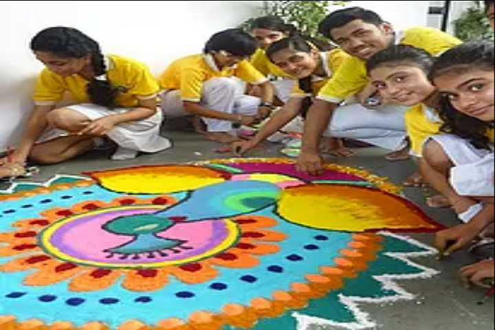 Vishwa Bharti Public School-Rangoli