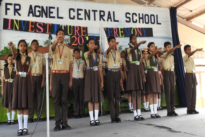 Fr Agnel Central School-Investiture Ceremony