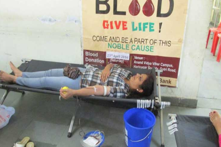 Anand Vidya Vihar-Blood donation day