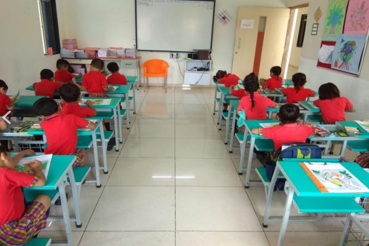 Blue Moon International School,Karjan-Classroom