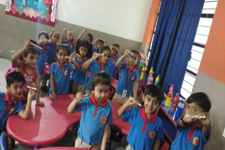 Calorx Public School-Kids classroom