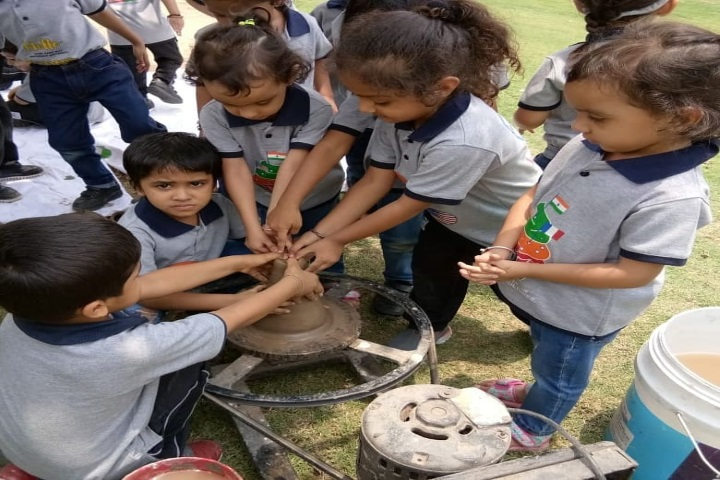 Gems Genesis International School-Pot Making Activity