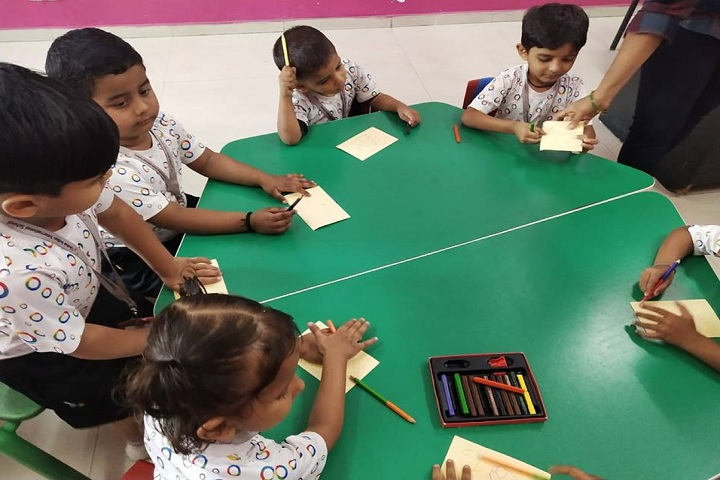 Global Indian International School-Drawing Activity