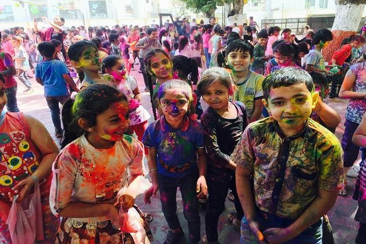 Gujarat Public School-Holi Celebration