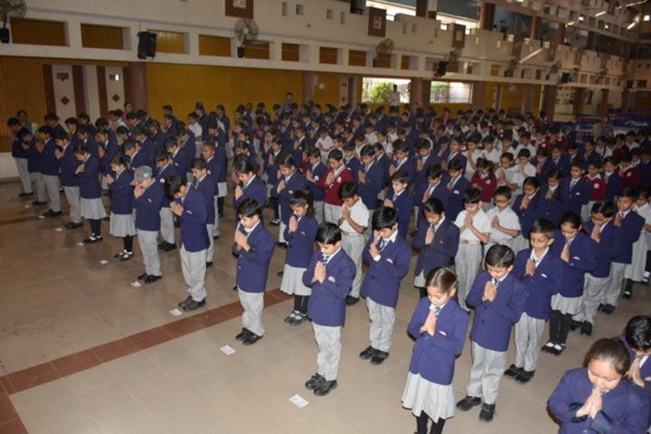 M. L. Kakadia National School-Morning Assembly