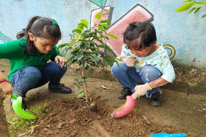 Shannen Kids School-Tree Plantation