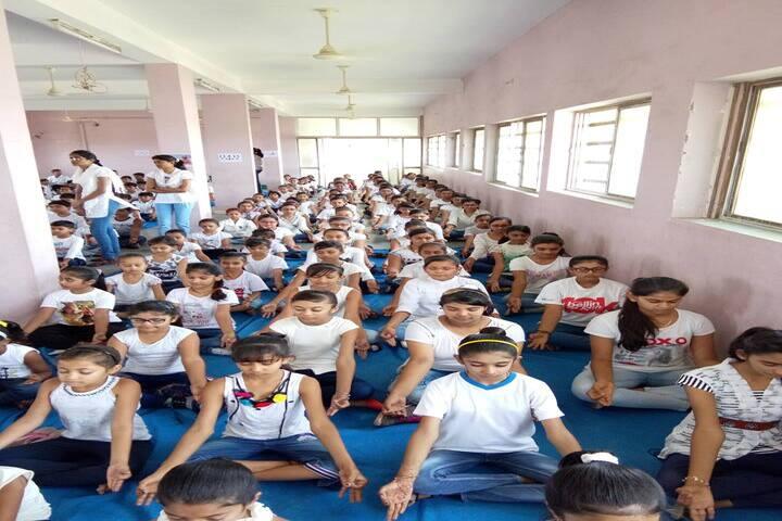 Shree Auro English School-Yoga Day