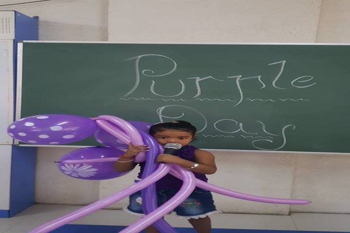 Shree Jain Yuvak Mandal English Medium School-Purple Day