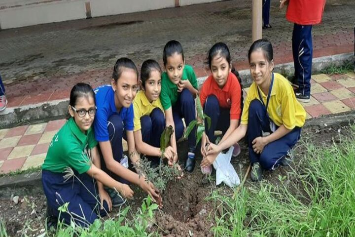Shree Radhagovind Vidyamandir-Tree Plant