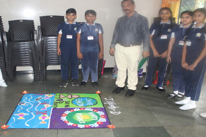 Shree Swaminarayan International Gunatit Vidyadham-Rangoli Competition