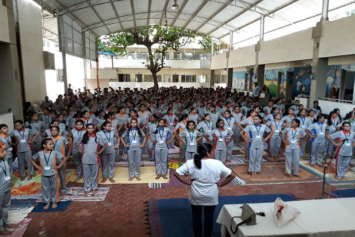 Shri LG Haria Multipurpose School-Yoga Day