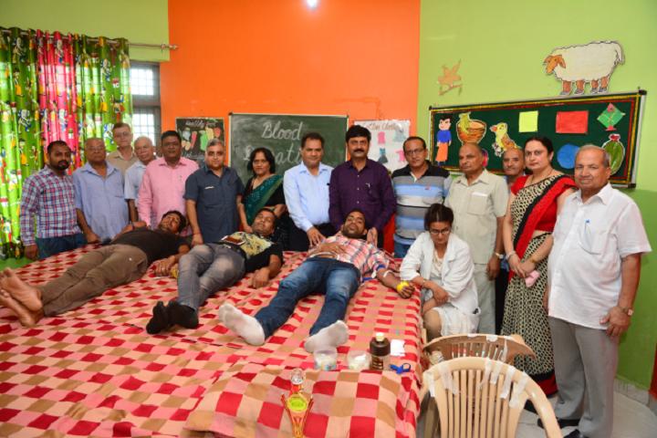A K Dav Public School-Blood donation camp