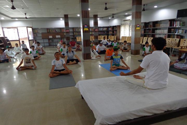 A K Dav Public School-Yoga class