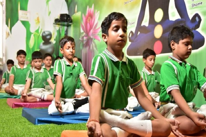 A V International Public School-Yoga class