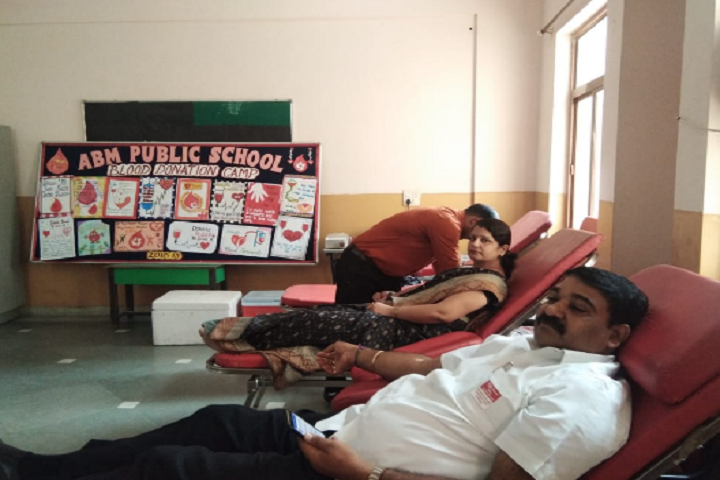 A B M Public School-Blood donation camp