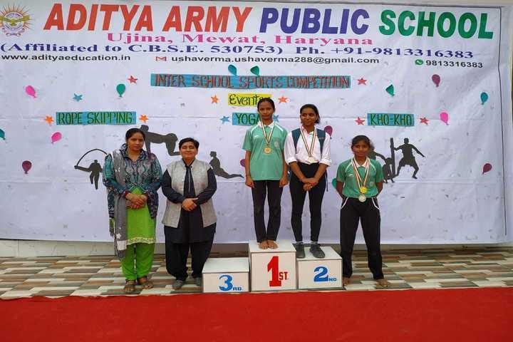Aditya Army Public School-Sports Winners