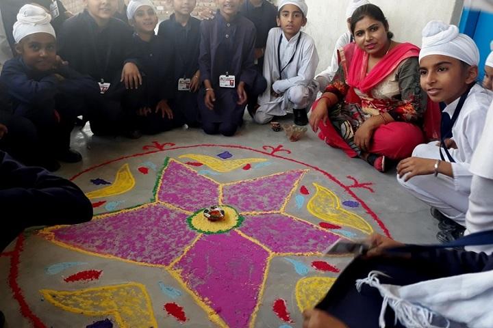 Akal Academy Bara Gura-Rangoli Competition