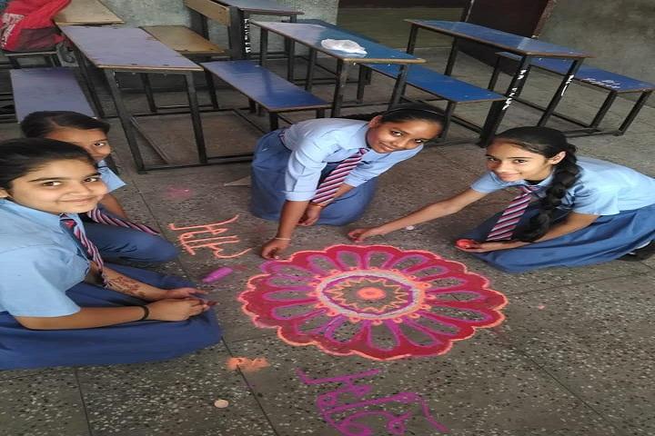 Angels Public School-Rangoli Competition
